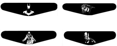 Al Pacino Batman Joker Assassins & Kratos Dualshock 4 Led light bar sticker set  Gaming Accessory Kit