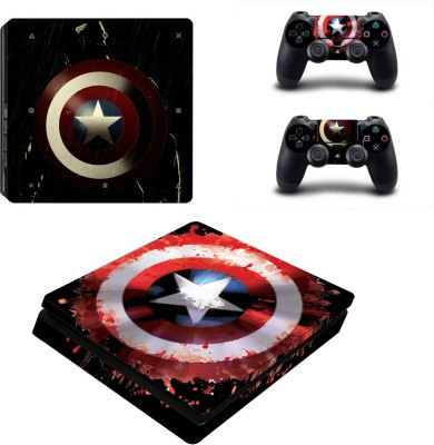 Al Pacino Captain of america Theme cover sticker for Ps4 SLIM Model  Gaming Accessory Kit(Multicolor, For PS4)