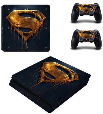 Al Pacino Superman Golden Logo theme cover sticker for Ps4 SLIM  Gaming Accessory Kit(Black, Golden, For PS4)