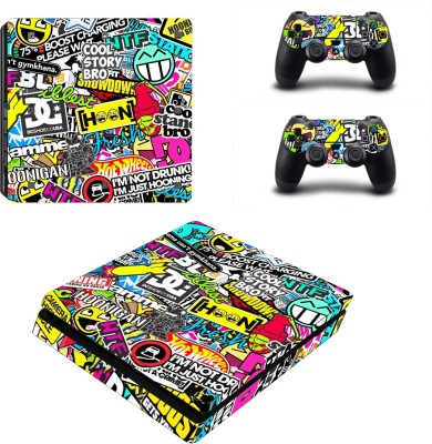 Al Pacino Sticker Bomb Theme Cover sticker for Ps4 SLIM MODEL  Gaming Accessory Kit(Multicolor, For PS4)