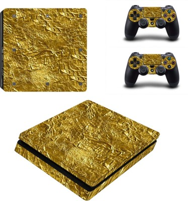 Al Pacino Golden texture theme cover sticker for Ps4 SLIM MODEL  Gaming Accessory Kit(Golden, For PS4)