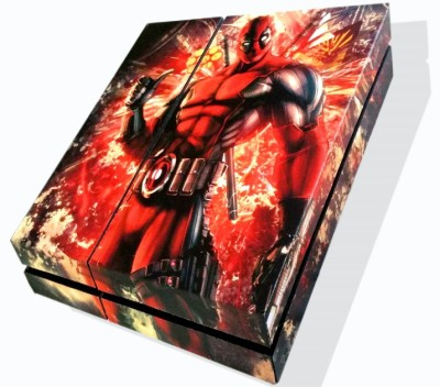 TheFlareShop PS4 Deadpool Skin with FREE DS4 lightbar decals  Gaming Accessory Kit