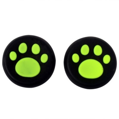 Hytech Plus Green Paw Theme Thumb Grips  Gaming Accessory Kit