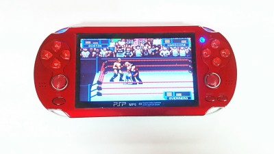 GAME ON PSP VITA 32 BIT 4 GB with 10000 INBUILT GAMES(Red)