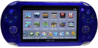 GAME ON PSP VITA 32 bit 4 GB with 10000 INBUILT GAMES(Blue)