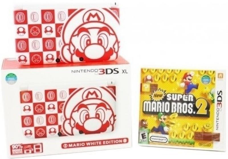 Nintendo 3DS XL Mario White Edition(White)