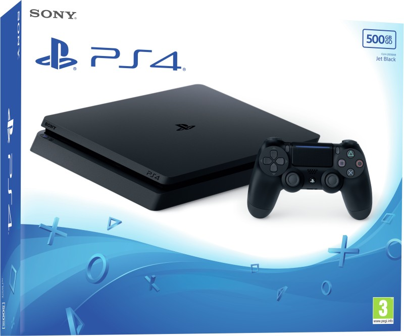 Sony PlayStation 4 (PS4) Slim 500 GB(Jet Black)