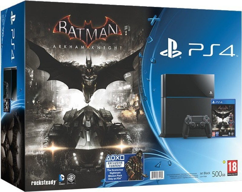 Sony PlayStation 4 (PS4) 500 GB with Batman Arkham Knight Bundle(Black)