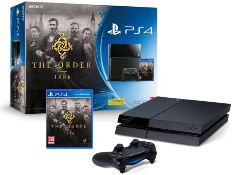Sony PlayStation 4 (PS4) 500 GB with The Order: 1886 Bundle Pack(Jet Black)