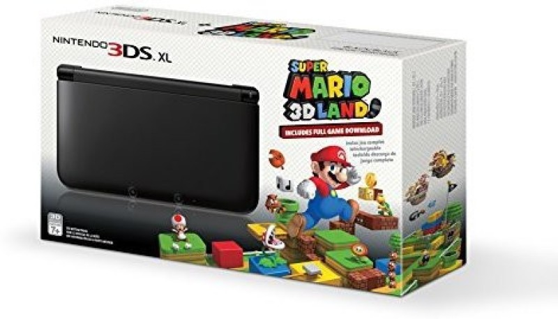 Nintendo 3966756 500 GB with Black Nintendo 3DS XL with (Pre-installed) Super Mario 3D Land Game(Black with Mario 3D Land)