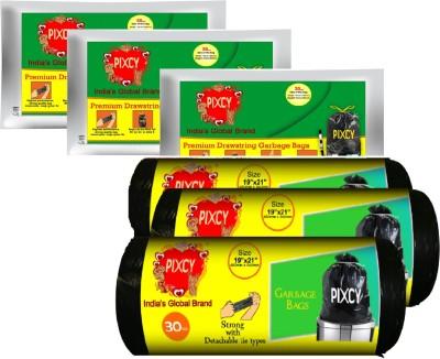 Pixcy Premium Drawstring Detachable Tie Small 25-30 L Garbage Bag
