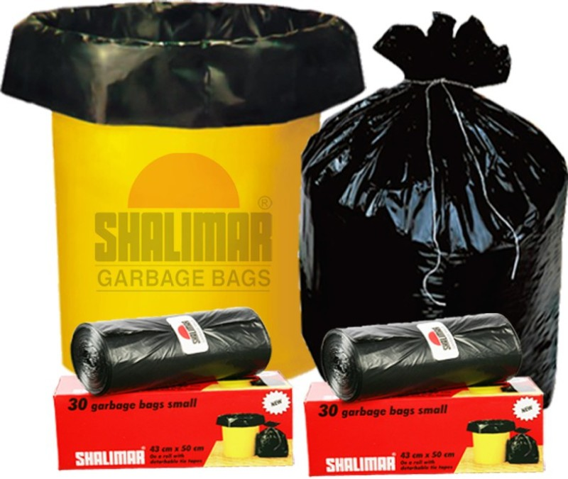 Shalimar Virgin (180 Bags) Small 20-25 L Garbage Bag(Pack of 6)
