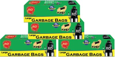 Pixcy Premium Detachable Tie Type (60 Bags) Large 55 - 65 L Garbage Bag(Pack of 4)