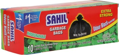 Sahil Tie String Jumbo 160 L Garbage Bag(Pack of 10)