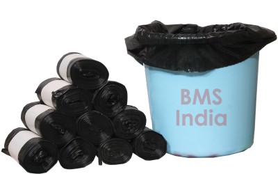 BMS India Premium LDPE (60 Bags) Small 5-7 L Garbage Bag