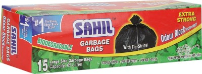 Sahil Tie String Large Standard 65 L Garbage Bag(Pack of 15)