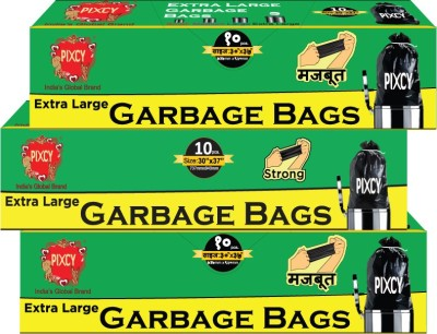 Pixcy Premium Detachable Tie Type (30 Bags) Extra Large 95 - 105 L Garbage Bag(Pack of 3)