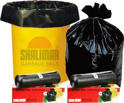 Shalimar Virgin (90 Bags) Extra Large 100-105 L Garbage Bag(Pack of 6)