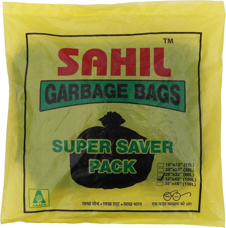 Sahil Tie-String XL 120 L Garbage Bag(Pack of 1)
