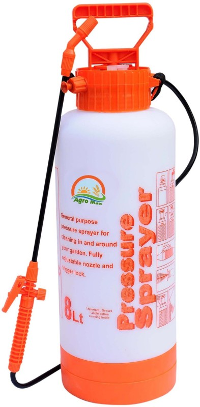 Agro Max Heavy Duty Durable Pressure Sprayer Pump 8 L Backpack Sprayer(Pack of 1)