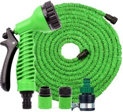 Evana Hand Sprayer - 7 Spray Settings Water Saving Plastic Garden Hose End Sprayer. Best Multi Purpose Garden Tool Kit
