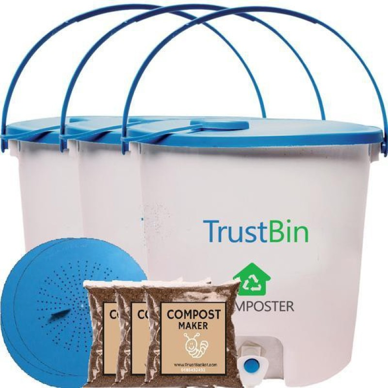 TrustBasket -TrustBin - Indoor composter kit for a family of...