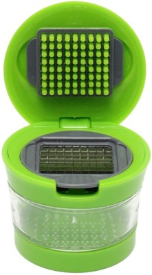 Shopo Vegetable Chopper Dicer Slicer With 2 Attachment And Storage Container Garlic Press