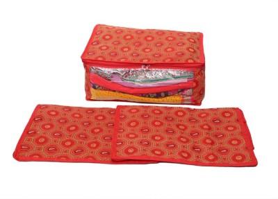 Kuber Industries Set of 3 Pcs in Bandhani Cloth Material