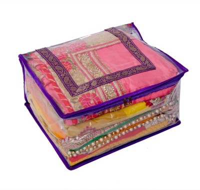 Kuber Industries Designer Quilted Transparent Saree Cover (Extra Large Size) MKU006644