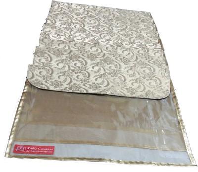 Ruhi's Creations Designer Saree Cover (Golden Flap)- Golden 7007