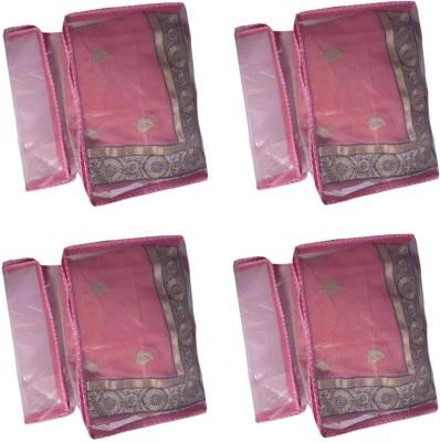 Fashion Bizz Designer Net Saree Cover 8 Pcs Pink combo SC8