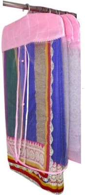 Addyz Plain Pack Of 3 Net Saree Cover Wardrobe Organize