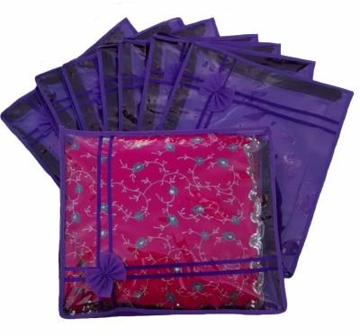 Indi Bargain Designer Purple set of 8 transparent double saree cover