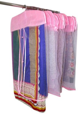 Addyz Plain pack of 12 Net Saree Cover For Heavy Sarees Pink Wardrobe Organize