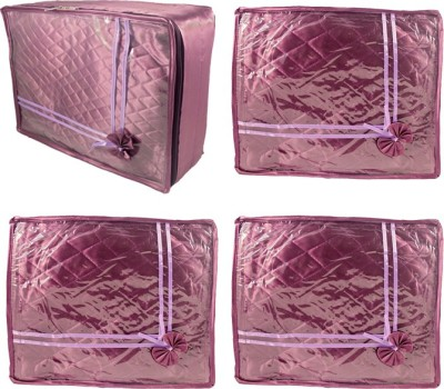 Annapurna Sales Designer Large and Small Saree Covers - Set of 4 Pcs. Purple00138