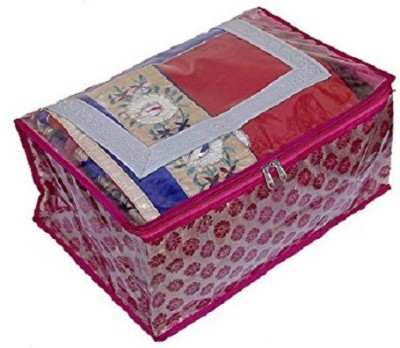 Kuber Industries Designer Saree cover In Heavy brocade With Capacity of 10-15, Wardrobe Organiser, Wedding Collection Gift SC098