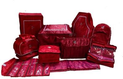 Kuber Industries Designer Wedding Gift, 10 pcs combo,Saree Cover, jwellery,payal, Vanity ,blouse,petticote cover and saree bag MKU0001202