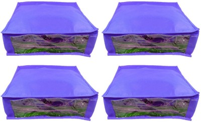 Abhinidi Non-Woven Multipurpose Saree Cover 4PC Capacity5-6 Units Each