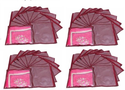 Addyz Plain Pack Of 48 Saree Cover Keep 1 each
