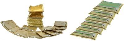 Bahurani Boutique Designer Combo Golden lase Single Saree Cover & Small Vanity Box
