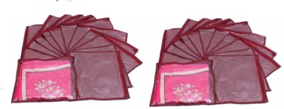 Addyz Plain Pack Of 24 Saree Cover Keep 1 each