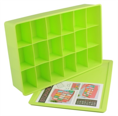AND Retails Plastic 18-Cell Multi-Utility Storage Box with Lid, 360x240x80mm AND002404