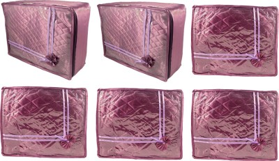 Annapurna Sales Designer Large and Small Saree Covers - Set of 6 Pcs. Purple00139