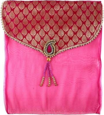 Art Horizons Designer Saree Covers in Pink Made From Tissue & Brocate AHSCFMG01