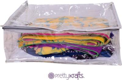 PRETTY KRAFTS B1108_Silver Sari Cover Large Golden 1108
