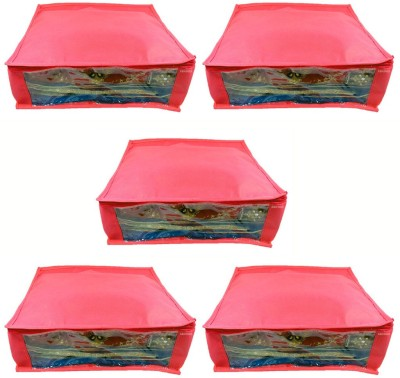 Abhinidi Non-Woven Multipurpose Saree Cover 5PC Capacity5-6 Units Each