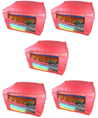 Abhinidi Non-Woven Multipurpose Saree Cover 5PC Capacity10-15 Units Each