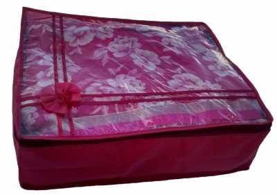 Indi Bargain Designer maroon transparent multi saree cover