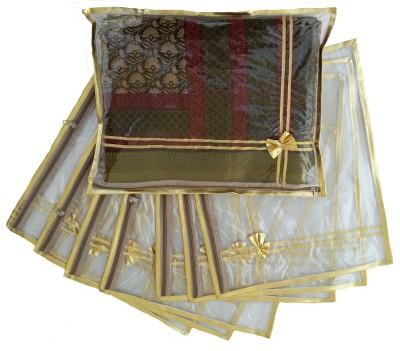 Indi Bargain Golden Single Transparent Saree Cover