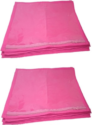 Addyz Plain 24 Pcs Saree Bedsheet Cover Bags Packaging Storage Cloth Clear Plastic Zip